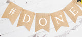 Graduation Decor, Done Banner