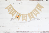 Baby Shower Decor, Woodland Oh Girl Fox Banner