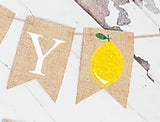 Lemonade Decor, Lemon Happy Birthday Personalized Banner