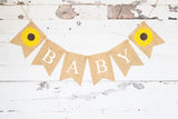 Baby Shower Decor, Sunflower Personalized Banner