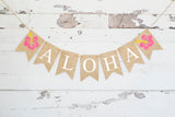 Tropical Birthday Decor, Hawaiian Aloha Banner