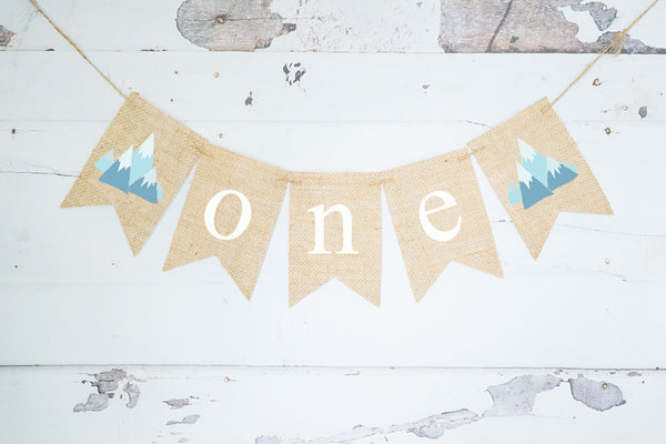 1st Birthday Decor, Tribal Teepee One Banner