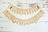 Boho Birthday Decor, Tribal Happy Birthday Banner