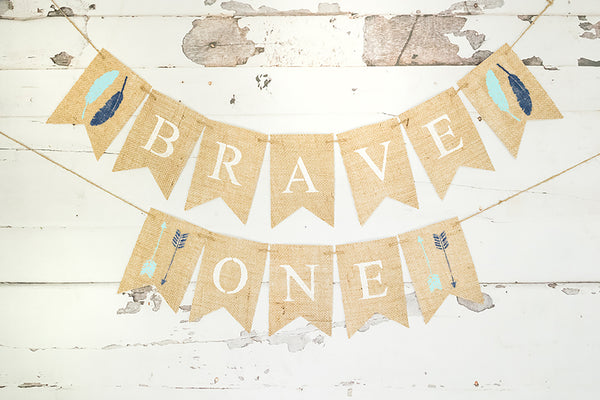 1st Birthday Decor, Tribal Brave One Banner