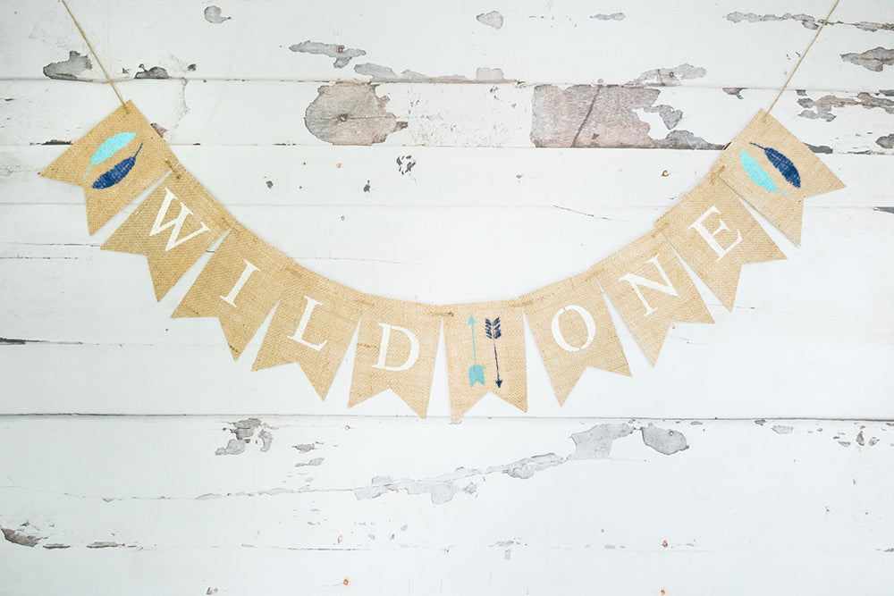 Wild Things Birthday Decor, Wild One Tribal Banner