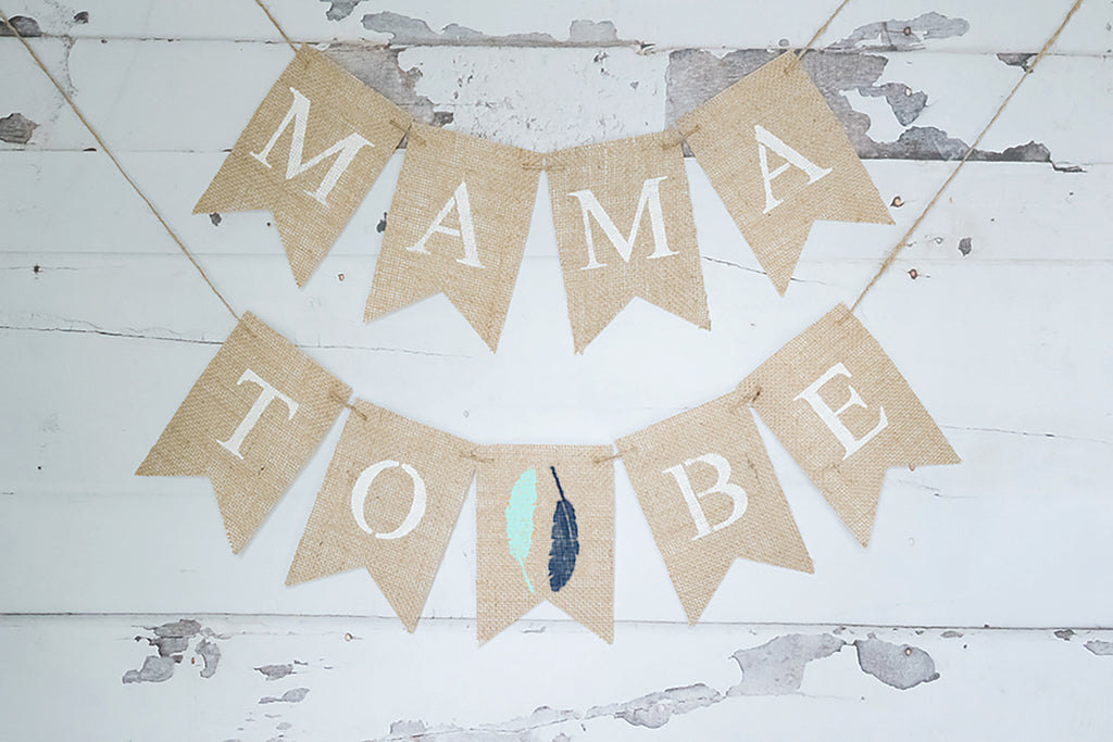 Boho Baby Shower Decor, Mama to Be Tribal Banner