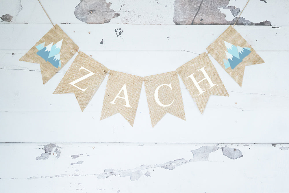 Tribal Birthday Decor, Teepee Personalized Banner