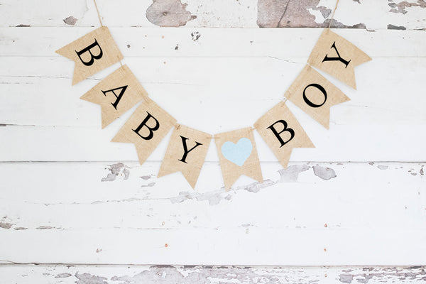 Gender Reveal Decor, Boy Baby Shower Banner