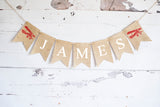 Vintage Airplane Birthday Decor, Personalized Plane Banner
