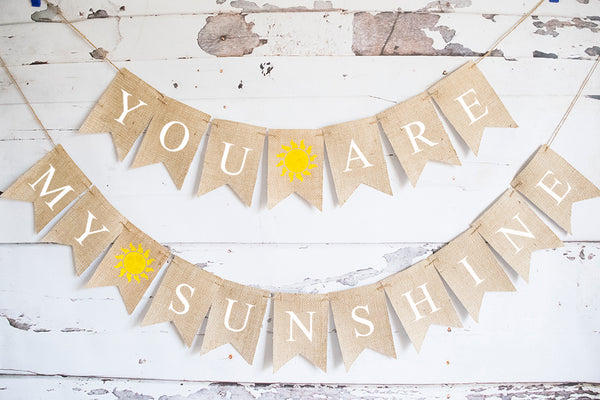 Baby Shower Decor, You Are My Sunshine Banner