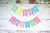 Easter Decor, Cardstock Happy Spring Banner