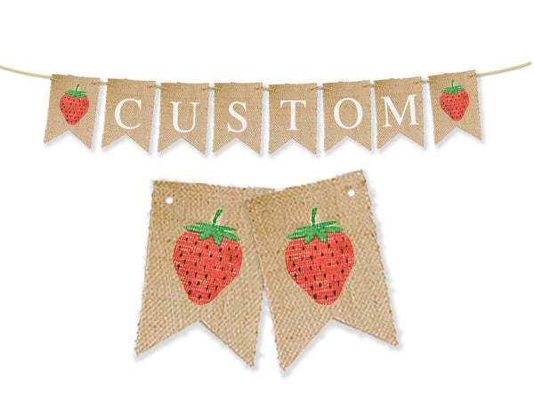 Custom Strawberry Decor, Personalized Banner