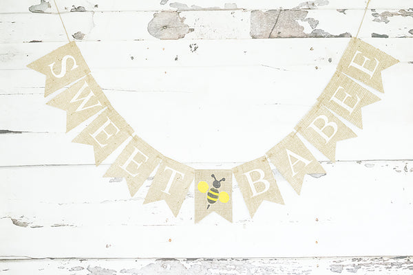 Baby Shower Decor, Sweet Babee Bumble Bee Banner