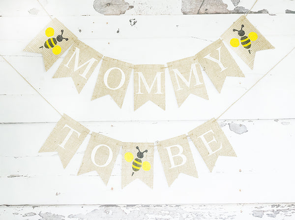 Baby Shower Decor, Mommy to BEE Bumble Bee Banner