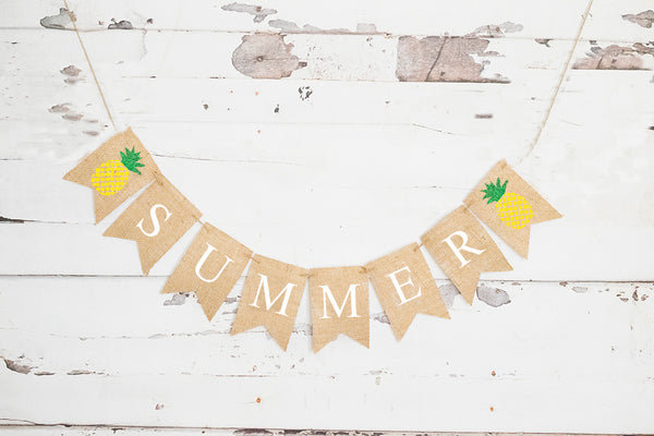 Summer Decor, Pineapple Summer Banner