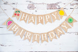 Birthday Decor, Tutti Frutti Happy Birthday Banner
