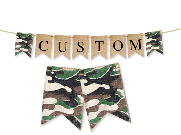 Custom Army Decor, Personalized Banner