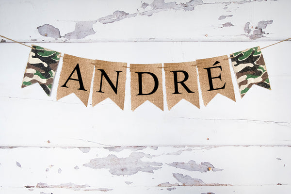 Army Decor, Personalized Banner