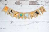 Safari Decor, Cardstock Safari Animals Banner