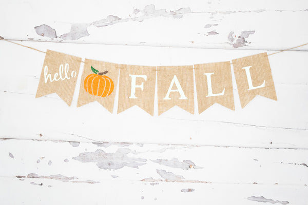 Fall Decor, Hello Fall Pumpkin Banner