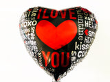 Valentine Balloon | Valentines Party Decor | I Love You Foil Balloon | Heart Shape Mylar Balloon | BAL014