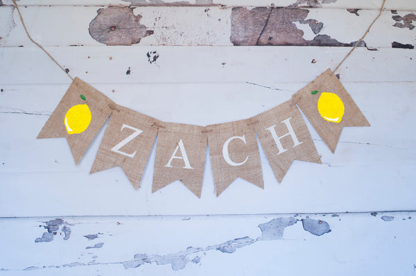 Lemon Personalized Banner | Summer Birthday Party Decor