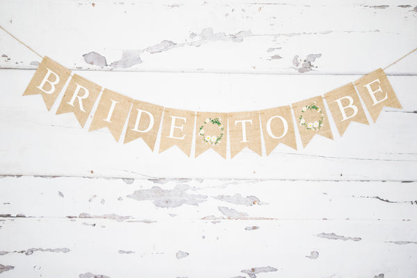 Bride to Be Banner for Bridal Shower or Bachelorette Party Decorations