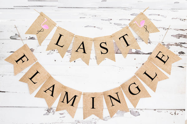 Last Flamingle Banner | Summer Bachelorette or Bridal Shower Decor