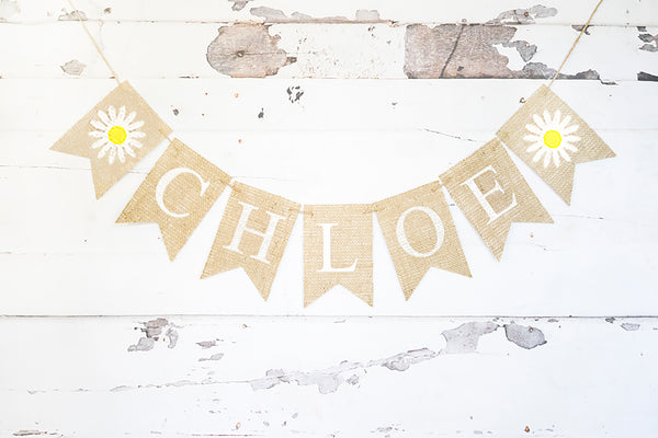 Daisy Personalized Banner | Birthday Party Decorations