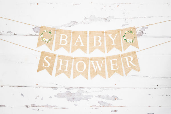 Baby Shower Banner | Floral Decorations