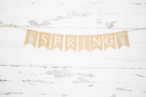 Mason Jar Decor, Spring Banner