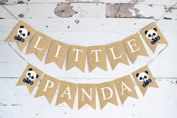 Little Panda Banner | Zoo or Safari Baby Shower or Birthday Party Decor