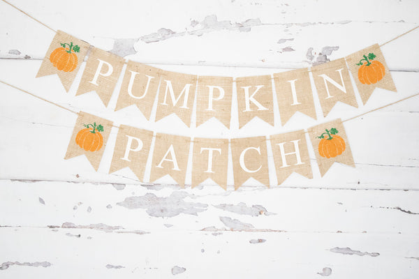 Fall Pumpkin Decor, Pumpkin Patch Banner