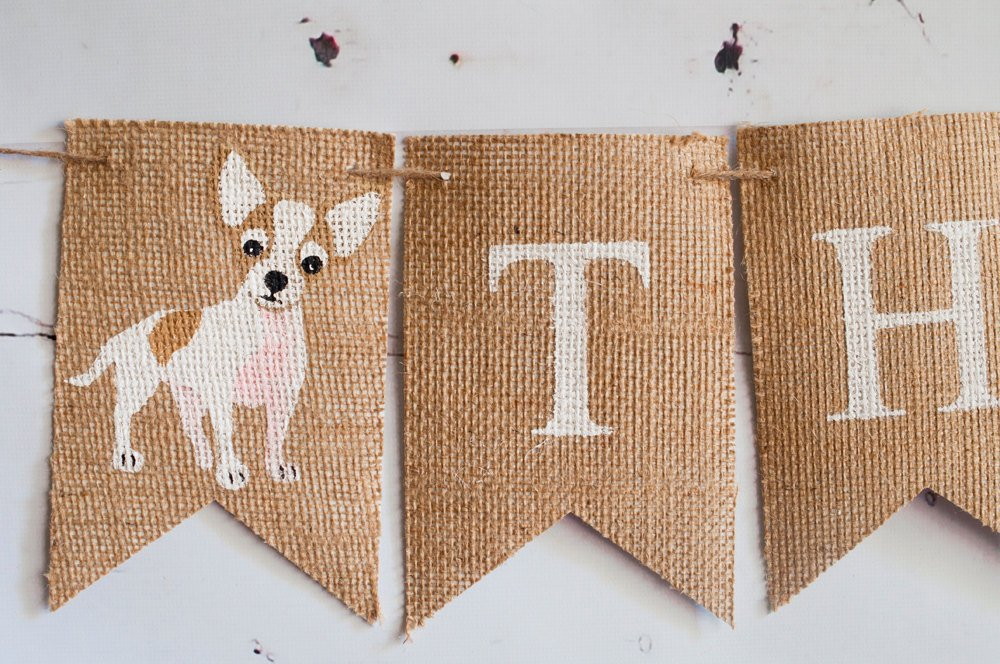 Chihuahua Banner, Dog Banner, Puppy Name Banner, Chihuahua Name Banner, Dog Birthday Banner B377