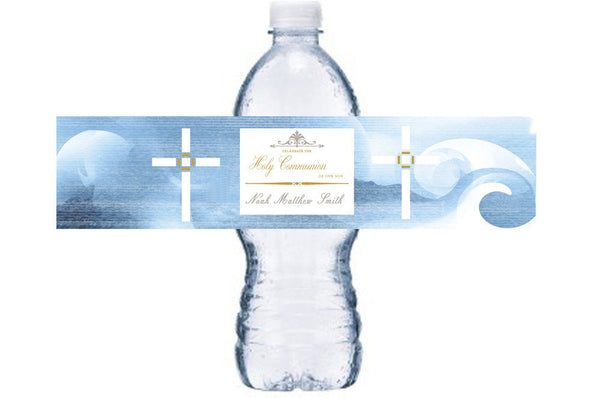 Holy Communion Waterproof Water Bottle Label, Communion Bottle Wrap, Communion Waterproof Adhesive Sticker, BL015