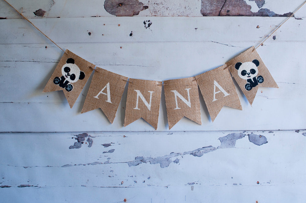 Panda Nursery Decor, Panda Baby Shower Banner, Zoo Banner, Panda Party Decoration, Custom Panda Zoo Banner, Personalized Baby Banner, B438