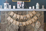 Nautical Bachelorette Banner, Nautical Party Banner, Bachelorette Party Banner, Nautical Wedding Decor, Bachelorette Beach Party Decor, B449