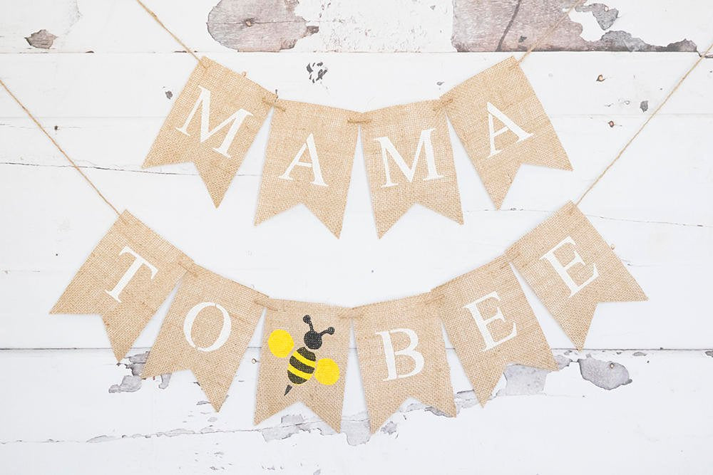 Bumble Bee Baby Shower Decor, Mama to BEE Banner, Mom to be Garland, Bee  Baby Shower, Parents To Be, Mommy To Be, Burlap Banner, B576
