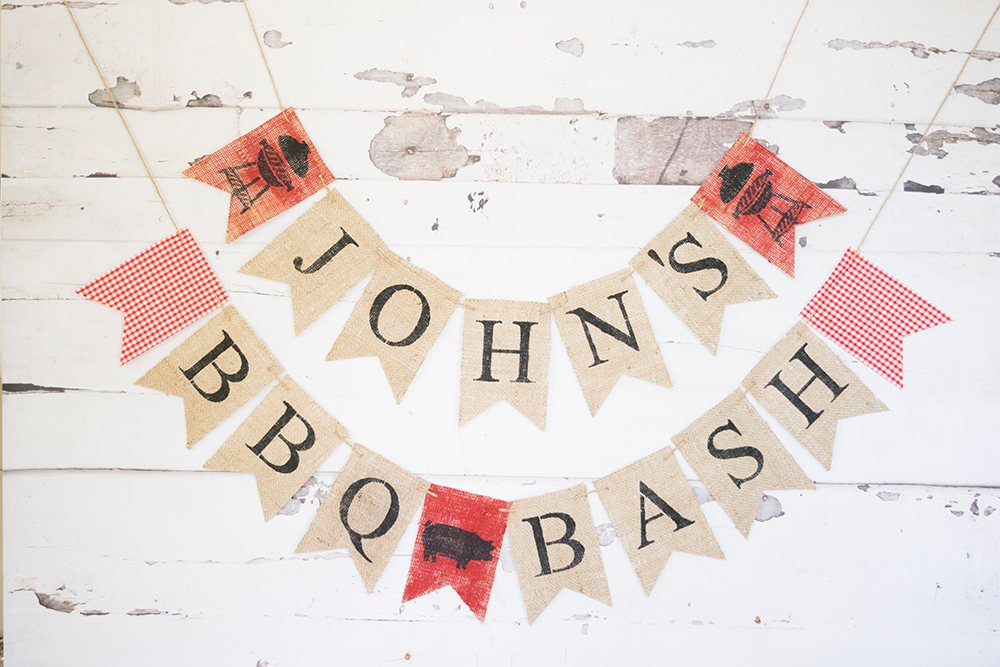 BBQ Party, BBQ Banner, Barbecue Party Decoration, bbq baby shower sign, BBQ Bash, B612
