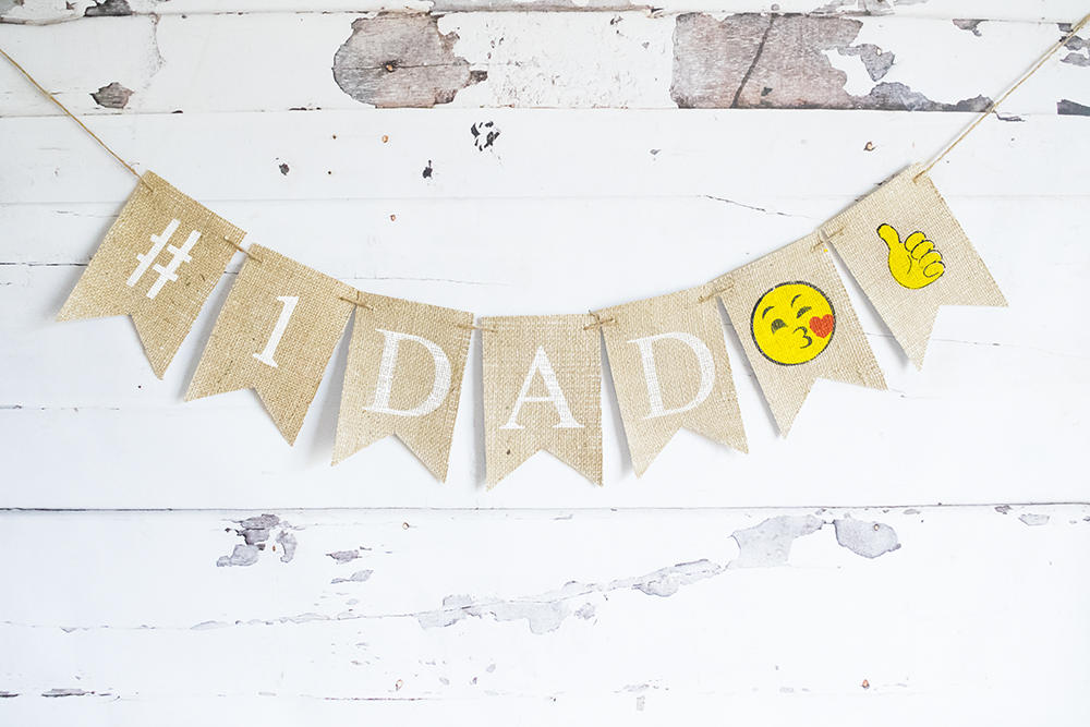 Dad's Birthday Banner, #1 Dad Sign, Happy Birthday Dad, Father's Day Decoration, Happy Father's Day, Father's Day Banner,  B651