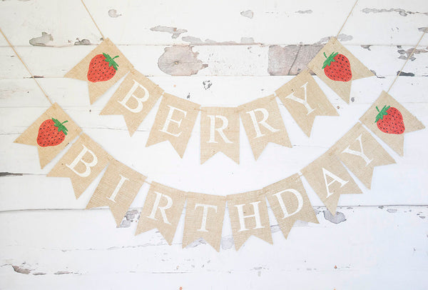 Strawberry Birthday Party, Berry Birthday Party, Strawbery Party Decor,  Summer Party Decorartion, Strawberry Themed Birthday Party , B736