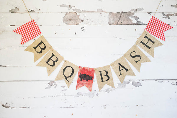 BBQ Party, BBQ Banner, Barbecue Party Decoration, BBQ Bash, Summer Barbecue Party, B613