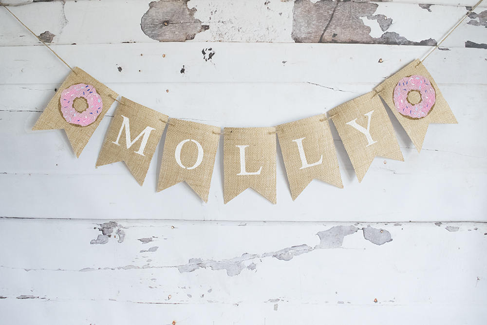 Donut Party Decoration, Donut Themed Party,  Personalized Donut Banner, B653