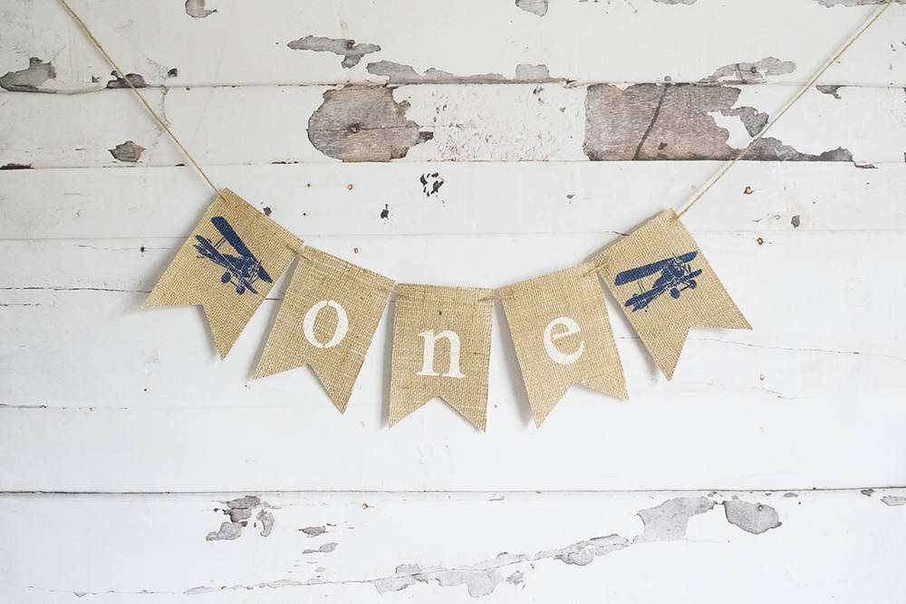 Vintage Airplane First Birthday Decoration, Airplane 1st Birthday Banner, Plane Highchair Banner, 1st Birthday Photo Prop, B663