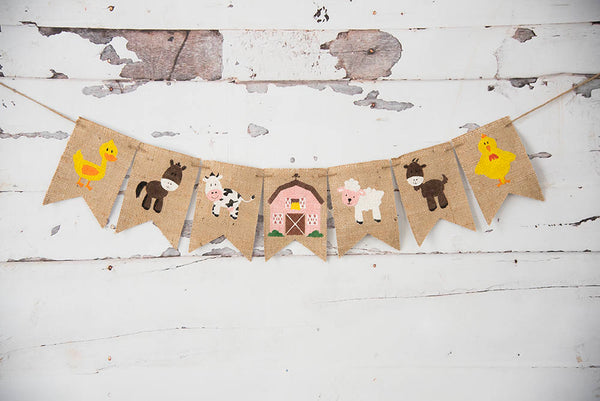 Farm Party Decoration, Barn Animals, Farm Birthday Decor, Farm Birthday Party Banner, Farmhouse Party Decor, Barnyard Animals, B903