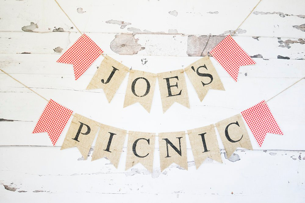 Summer Picnic Party Decor, Picnic Banner, Personalized Barbecue Decoration, Family Picnic Sign, Family Reunion Garland, B733