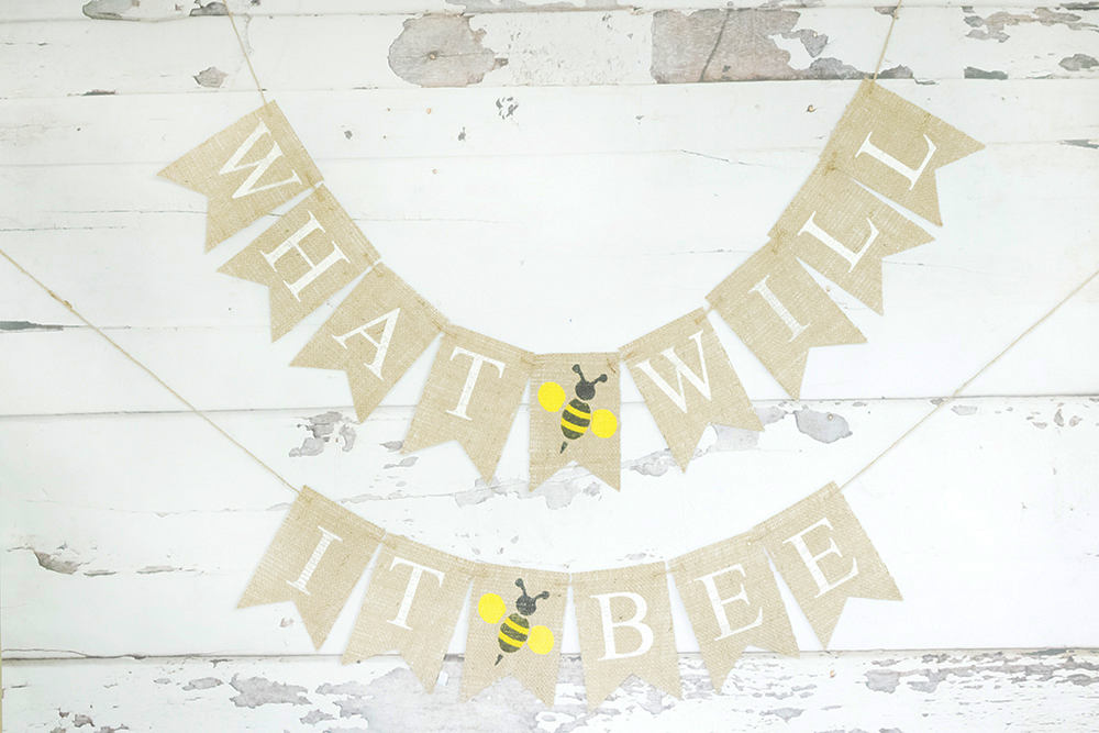 Bumble Bee Baby Shower Decor, What Will It Bee Banner, Honey Bee Baby Shower Garland, Gender Reveal Banner, B752