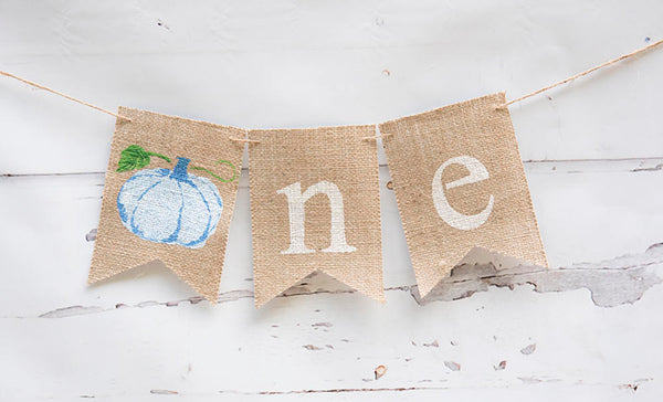 Fall 1st Birthday Decoration, Watercolor Pumpkin Banner, Fall Birthday Party Idea, Pumpkin Highchair Sign, 1st Birthday Party Supplies, B862