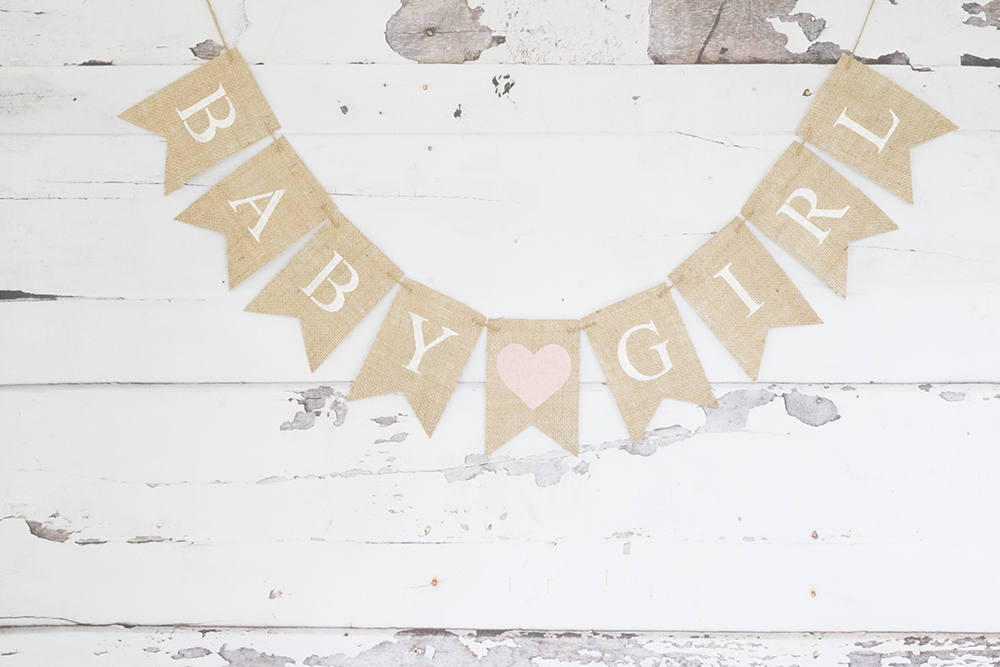 Baby Shower Decor Baby Girl Banner Swanky Party Box
