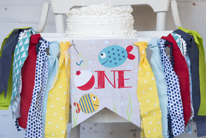 Fishing First Birthday Decor, Fishing Highchair Banner, Fishing Bobber Banner, Ofishally One, First Birthday Party, Cake Smash Prop, HC020